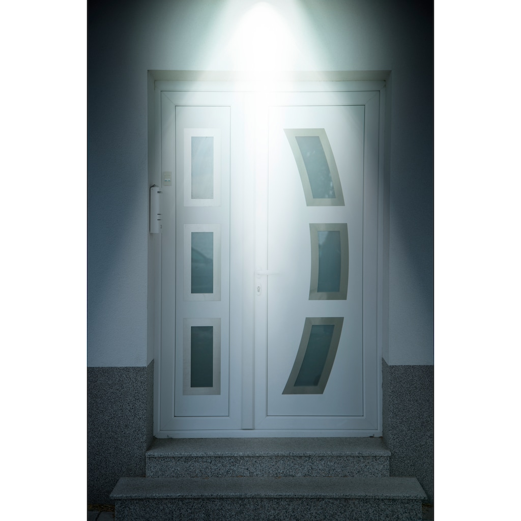 MediaShop Außen-Wandleuchte »Panta Safe Light«, LED-Board, 2 St., Kaltweiß, Set mit 2 Stück, 360 Grad drehbar, wetterbeständig, extrem Hell, Bewegungssensor mit 10 m Reichweite