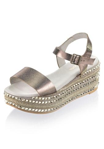 Alba Moda Sandalette aus Perlatoleder kaufen