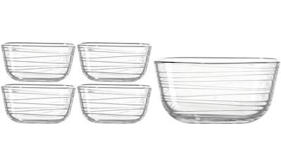 "LEONARDO Servierschüssel ""GUSTO STRUTTURA"", Glas, (Set 5 - tlg.) kaufen"