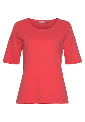 Rabe Rundhalsshirt, mit kleinen Schmucksteinchen am Ausschnitt kaufen