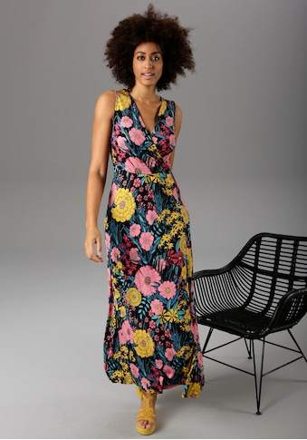 Aniston CASUAL Maxikleid, mit farbintensivem Blumendruck - NEUE KOLLEKTION kaufen