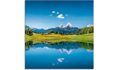 Artland Glasbild »Landschaft in den Alpen«, Berge, (1 St.) kaufen