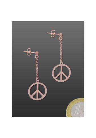 Adelia´s Kettenanhänger »Ohrschmuck Peace Frieden 925 rosé Silber« kaufen