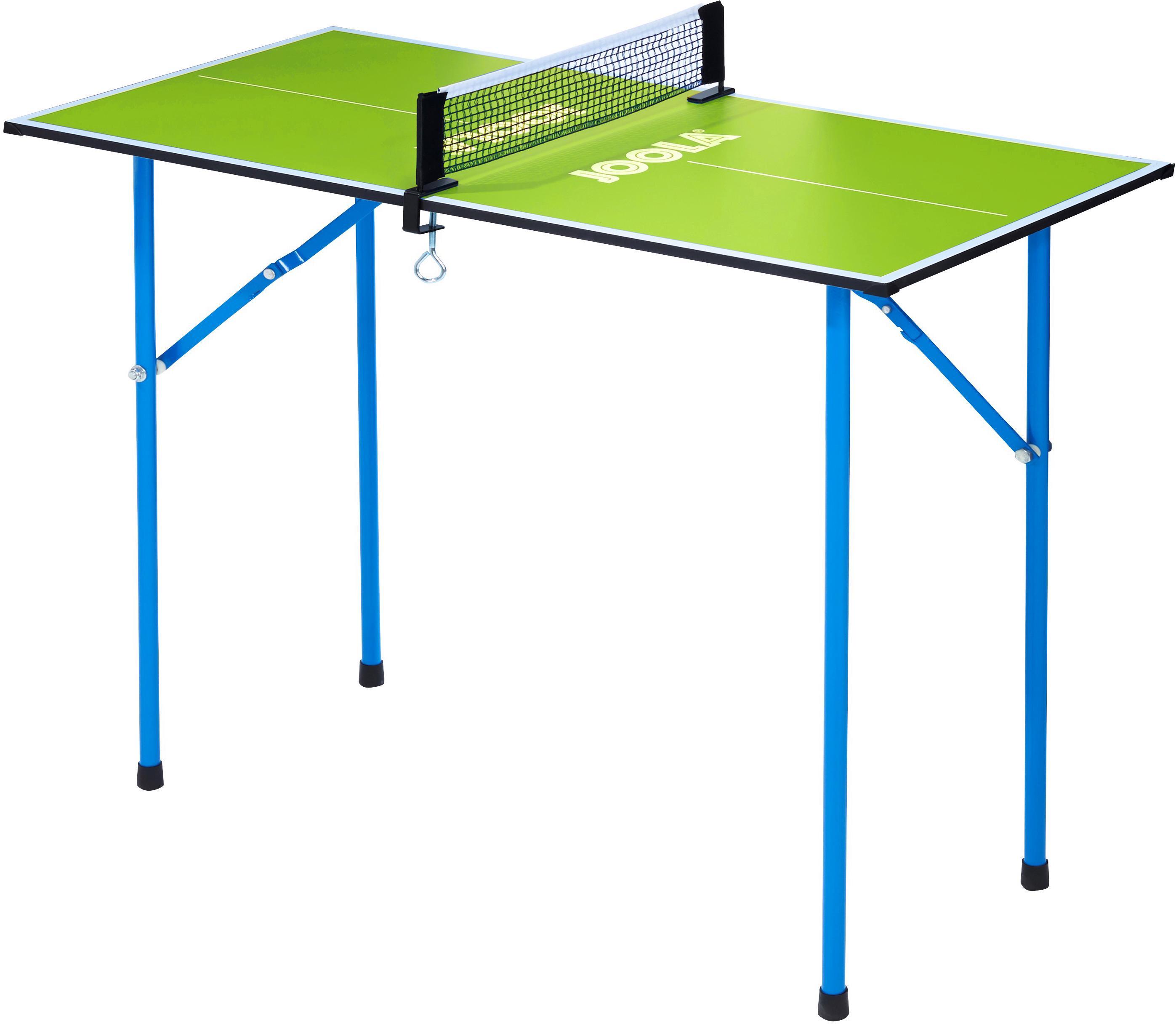 Joola Mini-Tischtennisplatte Mini, (2 tlg.), Das Netz ist im Lieferumfang enthalten grün Tischtennis-Ausrüstung Tischtennis Sportarten