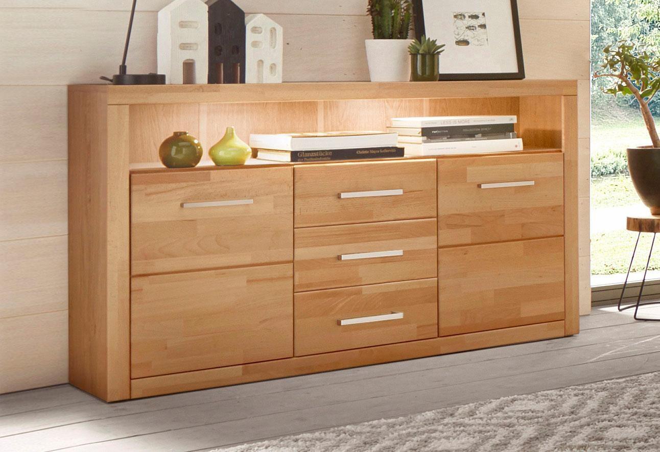 sideboard serie ribe breite 130cm kaufen baur. Black Bedroom Furniture Sets. Home Design Ideas