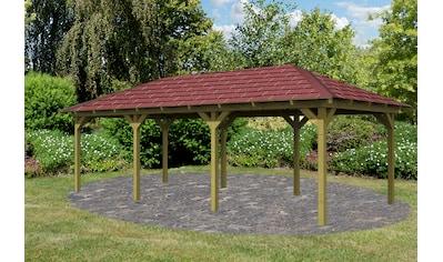 Karibu Holzpavillon »Mailand 1«, BxT: 345x485 cm, inkl. Dachschindeln und Pfostenanker kaufen