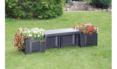 KHW Gartenbank »Berlin«, Kunststoff, 174x49x47 cm, anthrazit kaufen
