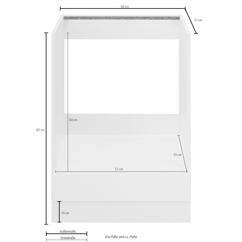 wiho Küchen Herdumbauschrank »Flexi2«