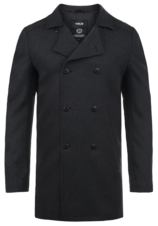 Solid Wollmantel Harvey | Bekleidung > Mäntel > Wollmäntel | Grau | Solid