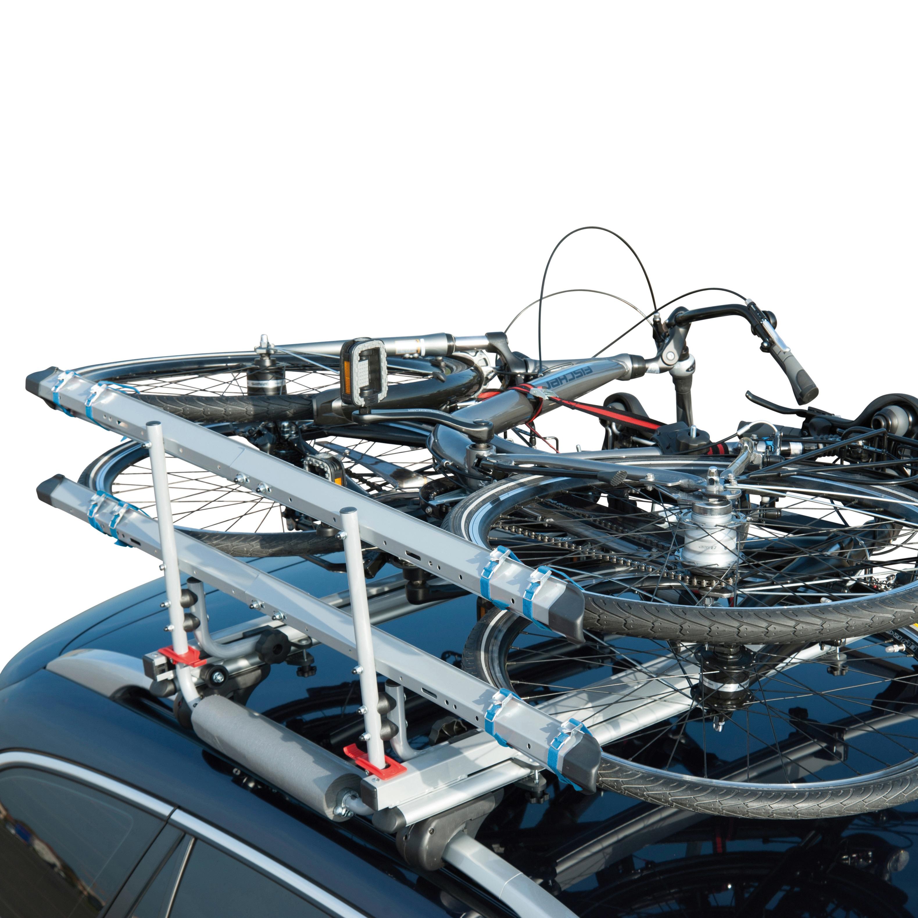 FISCHER Fahrräder Dachfahrradträger Dachlift grau Fahrradträger Autozubehör Reifen