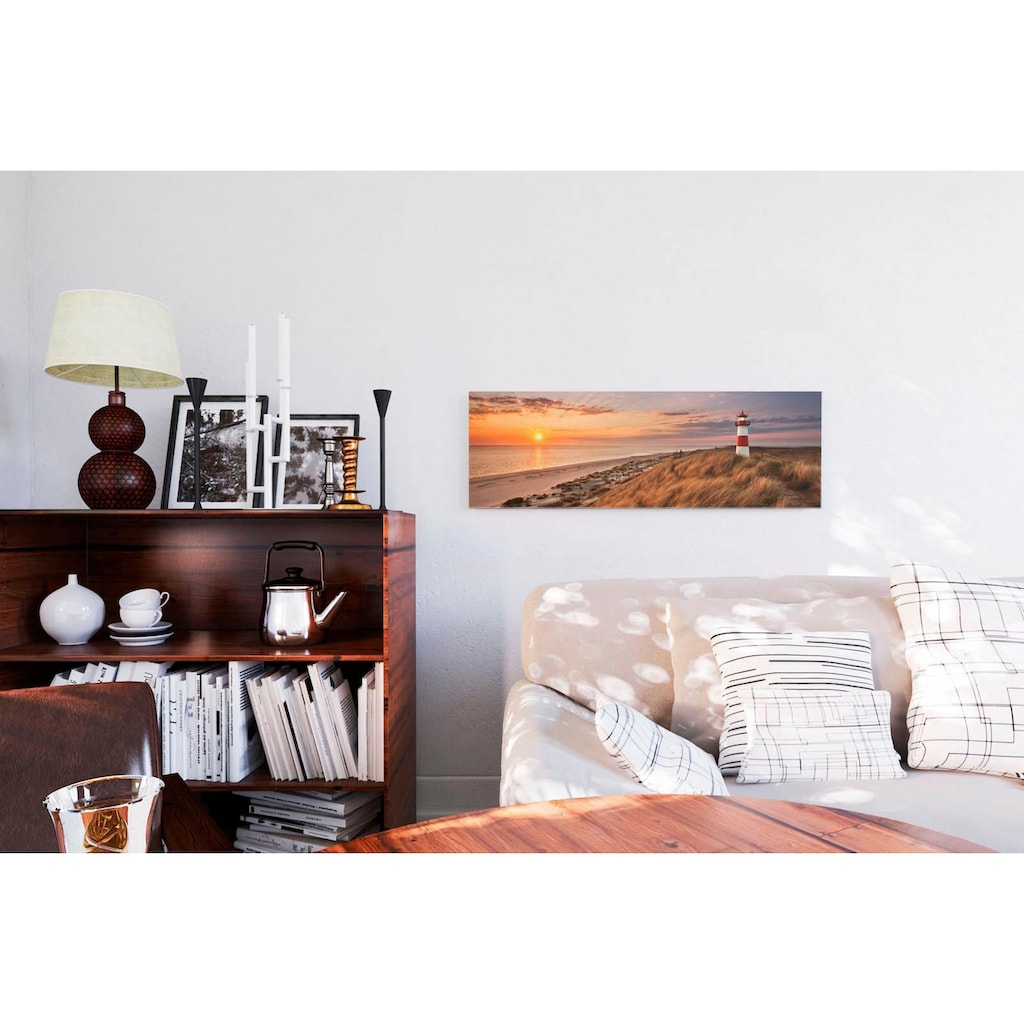 Reinders! Deco-Panel »Leuchtturm Sonnenuntergang«