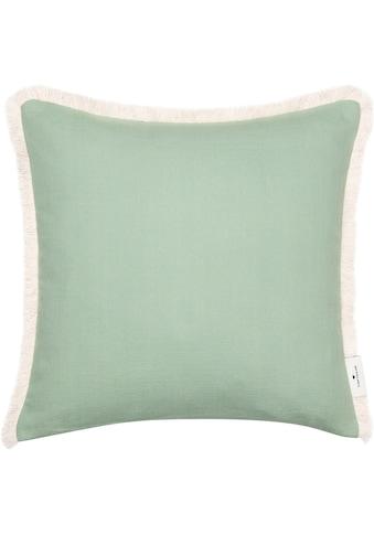 TOM TAILOR Kissenhülle »Fringed Cotton«, (1 St.), mit naturfarbenen Fransensaum kaufen