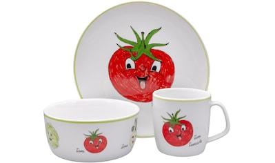 """Eschenbach Kindergeschirr - Set """"Gesunde Freunde Tomate"""" (3 - tlg.), Porzellan kaufen"""