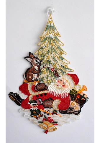 Stickereien Plauen Fensterbild »Weihnachtsmann« (1 Stück) kaufen