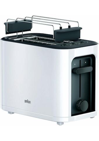 Braun Toaster »HT 3010 WH«, für 2 Scheiben, 1000 Watt kaufen