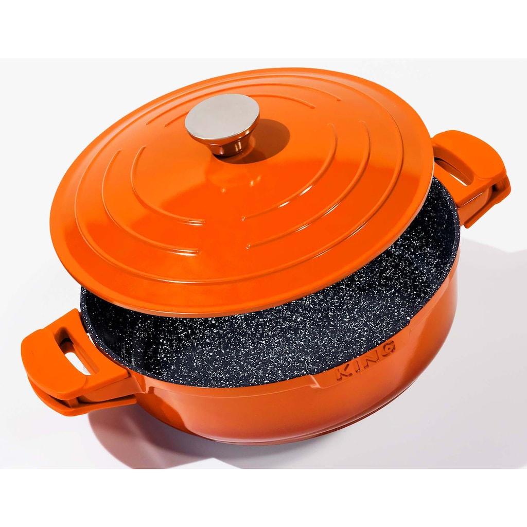 KING Schmorpfanne »Shine Orange«, Aluminiumguss, (1 tlg.), Ø 28 cm, Induktion