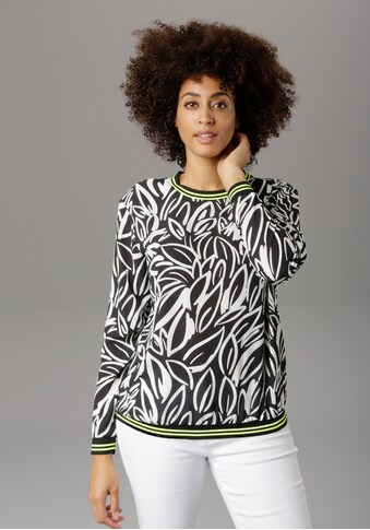 Aniston SELECTED Shirtbluse, mit neon Details - NEUE KOLLEKTION kaufen