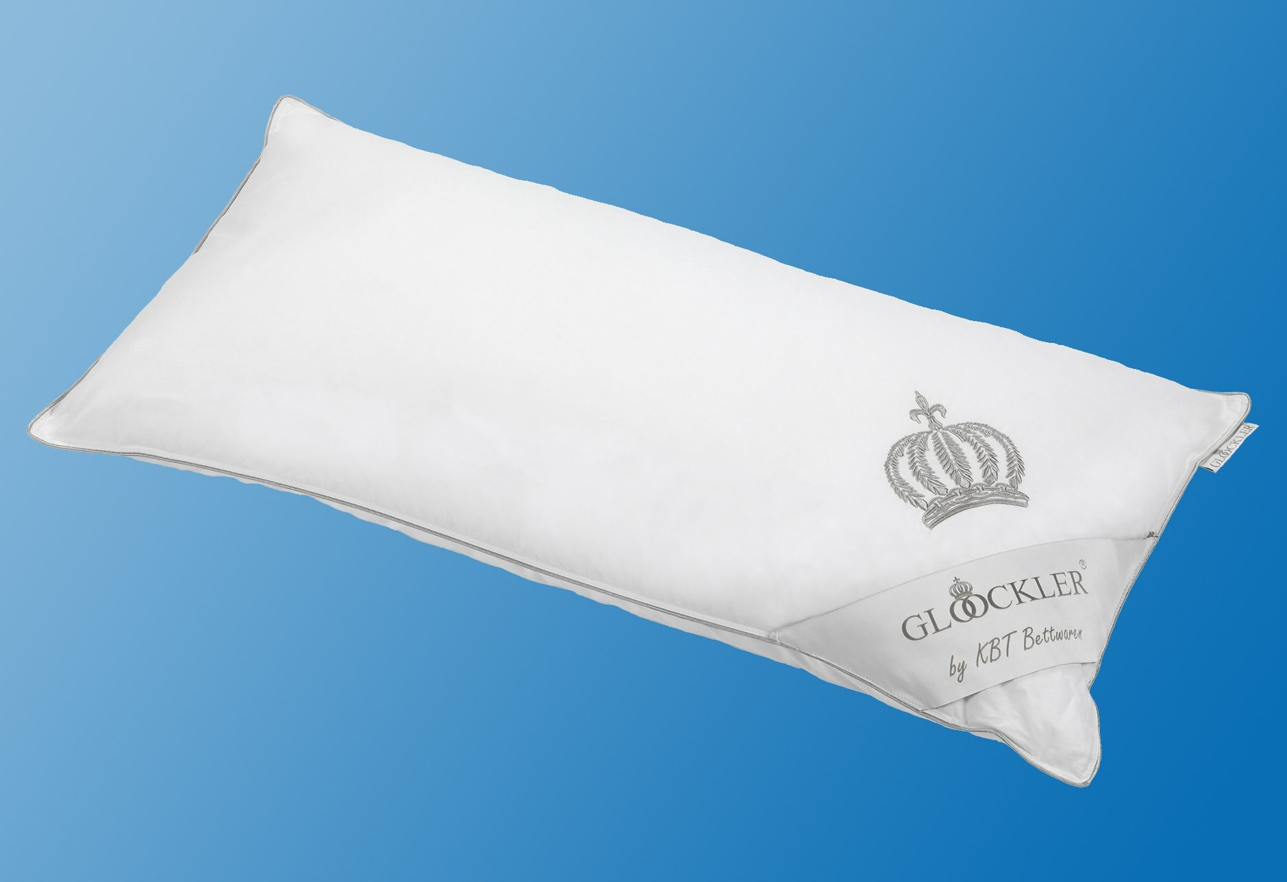 Federkopfkissen Platin GLÖÖCKLER by KBT Bettwaren Füllung: 70% Federn 30% Daunen