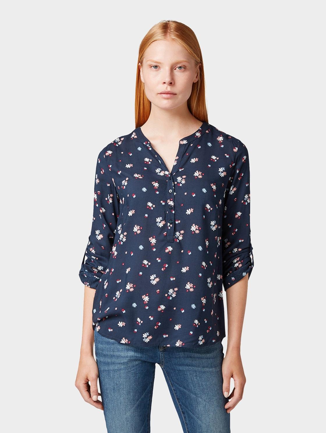 TOM TAILOR Shirtbluse Bluse mit Blumen-Print