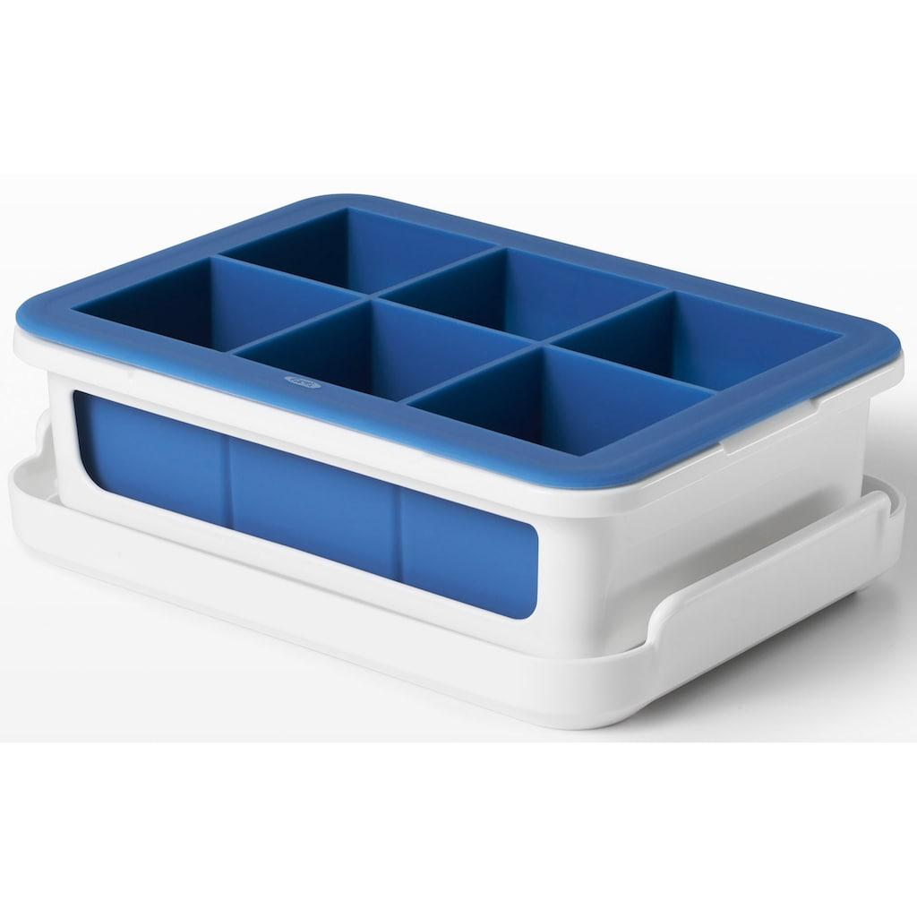 OXO Good Grips Eiswürfelform, ergibt 6 Eiswürfel von je 4,5 cm