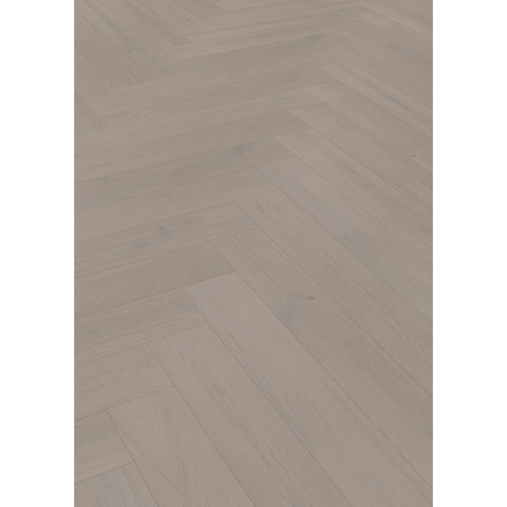 ter Hürne Parkett »Eiche grau«, mit fühlbarer Oberfläche