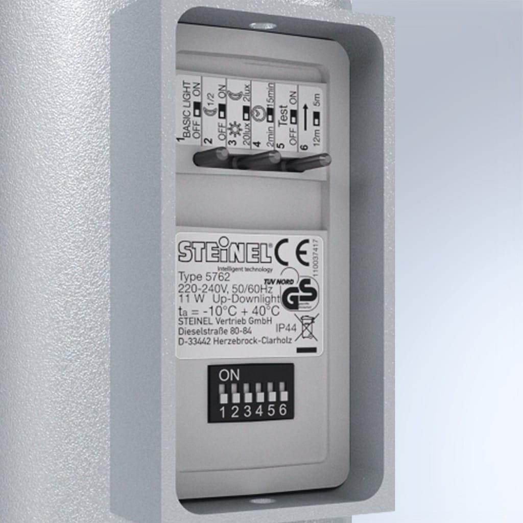 steinel Außen-Wandleuchte »L 910 LED«, LED-Board, 1 St., Warmweiß, 180° Erfassungsbereich, max. 12 m Reichweite, Zeiteinstellung von 120 Sek. - 15 Min., Grundlichtfunktion, 4h Dauerlicht, Softlichtstart, per Kabel vernetzbar