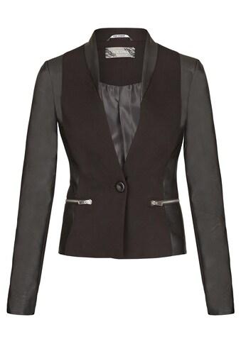 Nicowa Modische Jacke ACROCE mit Kunstledereinsätzen kaufen
