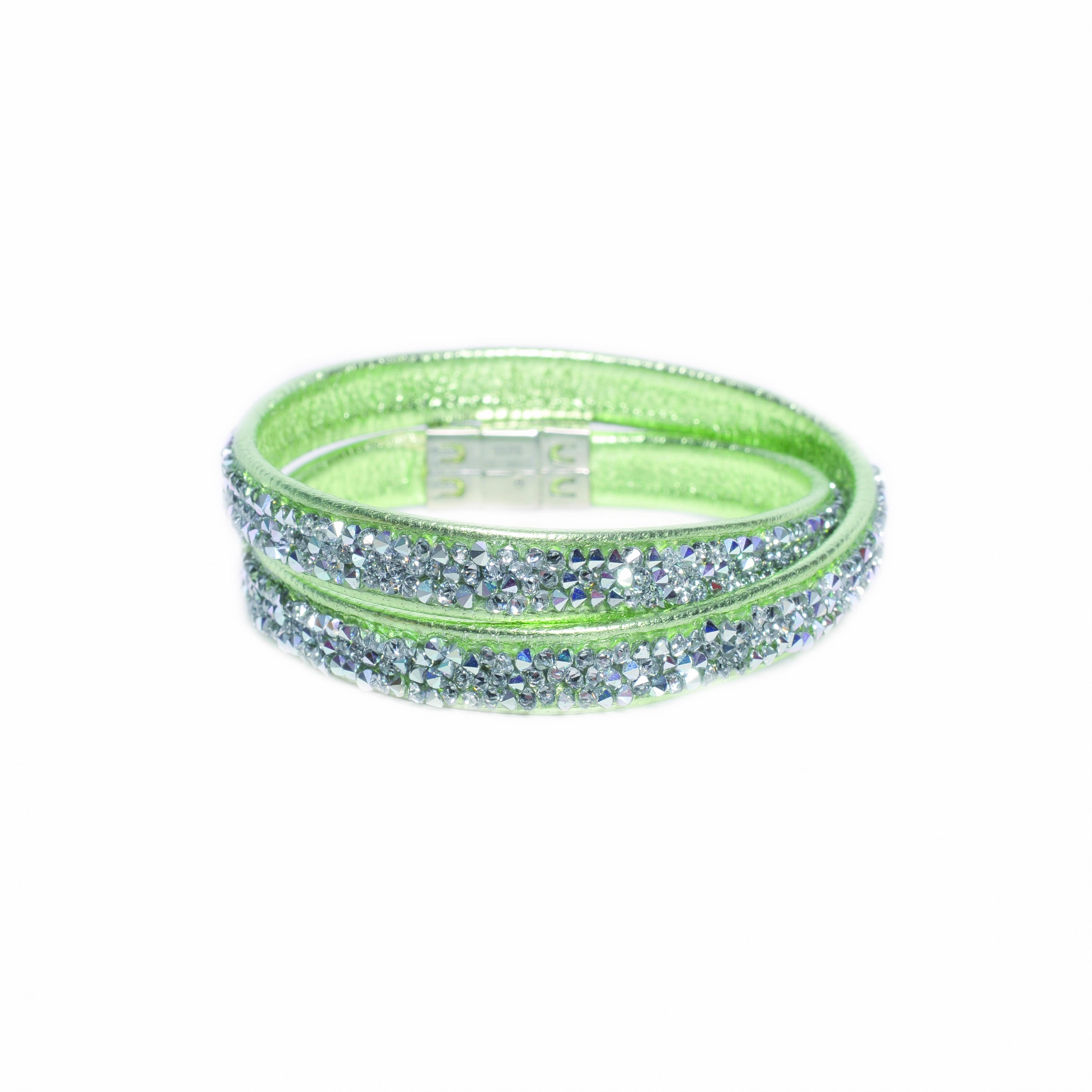 LOVING CRYSTAL Lederarmband mit Swarovski-Steinen | Schmuck > Armbänder > Lederarmbänder | Leder | Loving Crystal