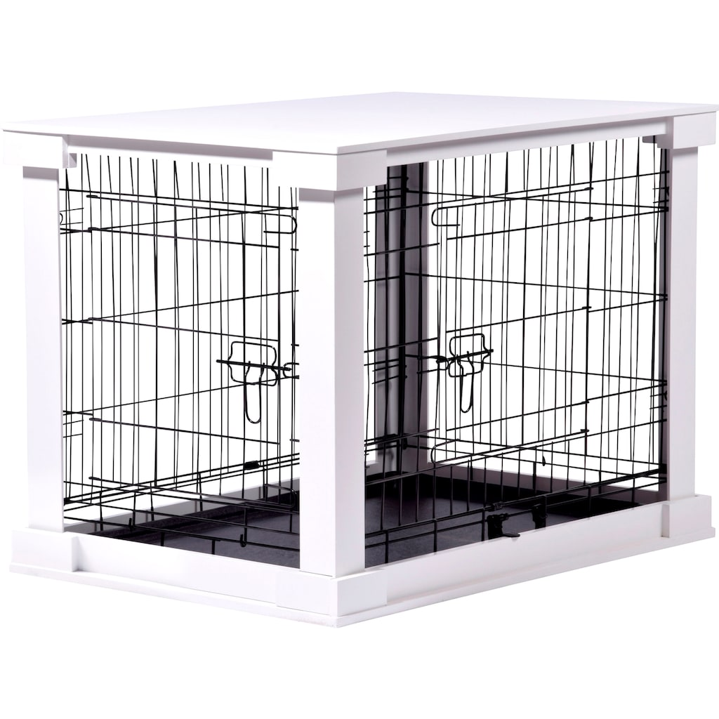 dobar Hundekäfig »Gitterbox Gr. M«, BxLxH: 55x83x59 cm, weiß