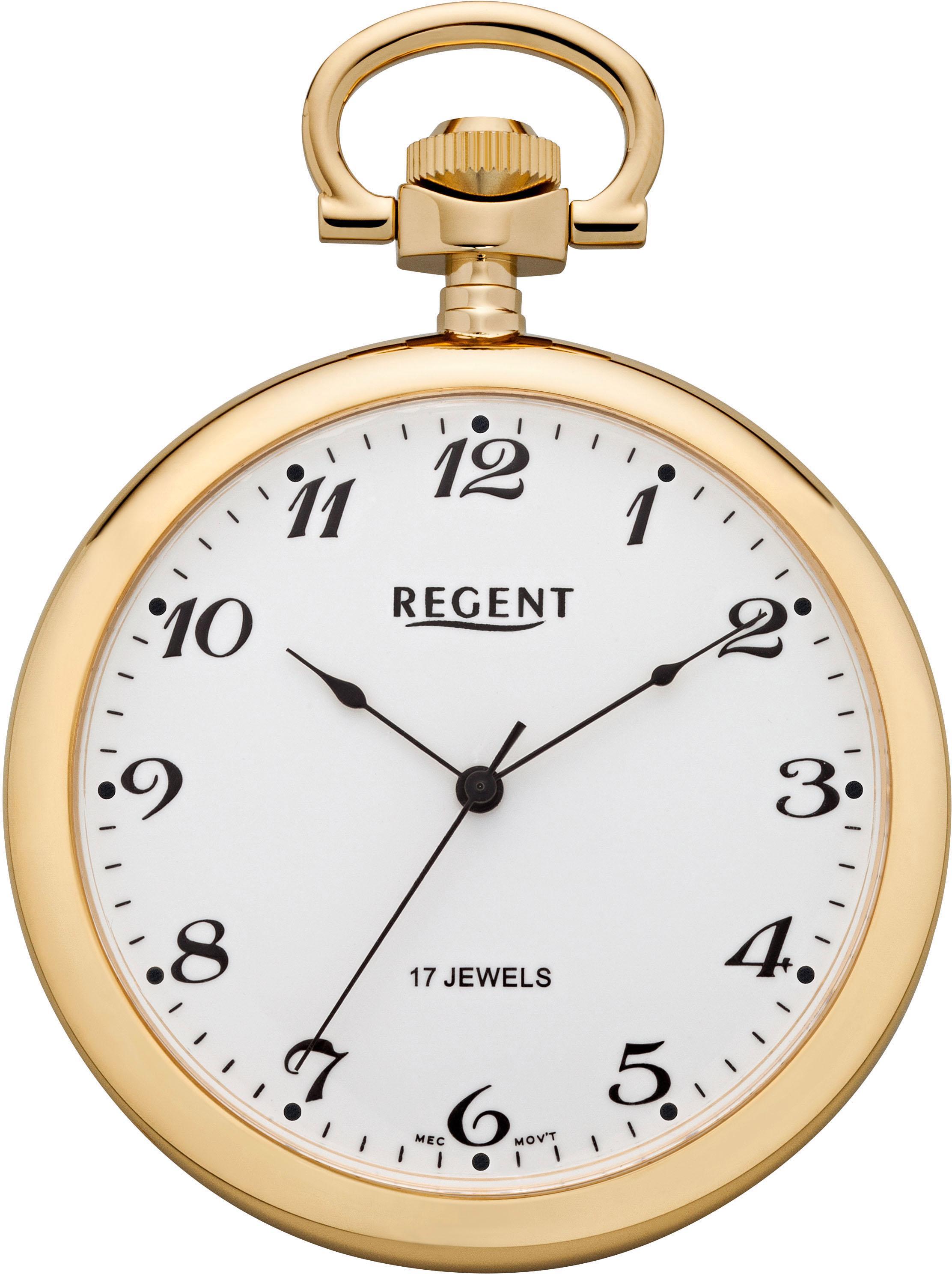 Regent Taschenuhr »P32« (Set, 2 tlg.) | Uhren > Taschenuhren | Goldfarben | Regent
