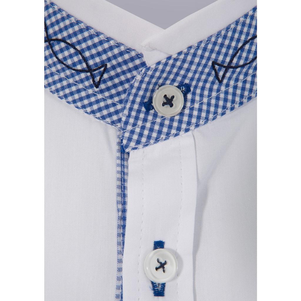 OS-Trachten Trachtenhemd, mit Stehkragen