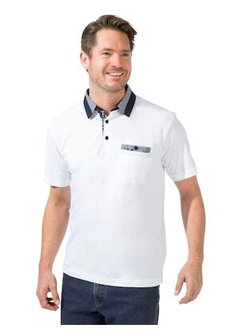 Marco Donati Kurzarm - Shirt mit Webkragen in aktueller Kontrast - Optik kaufen
