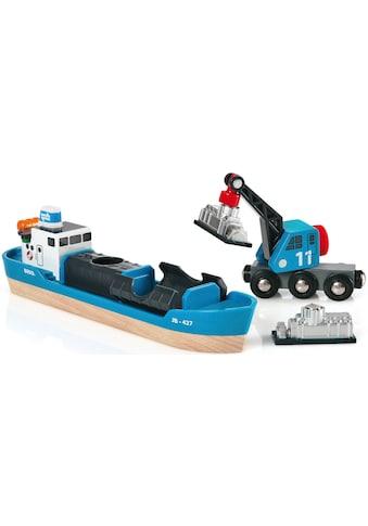 BRIO® Spielzeugeisenbahn-Erweiterung »BRIO® WORLD Containerschiff mit Kranwagen«,... kaufen