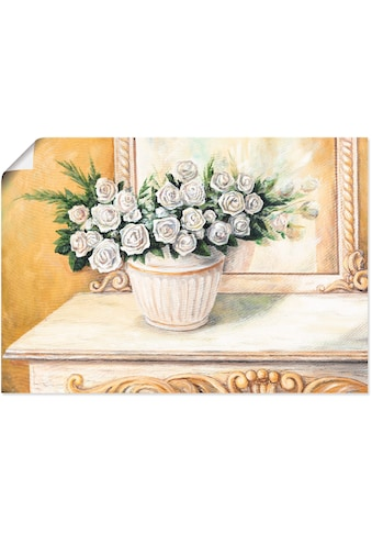 Artland Wandbild »Rosen auf Tisch I«, Blumen, (1 St.), in vielen Größen & Produktarten... kaufen