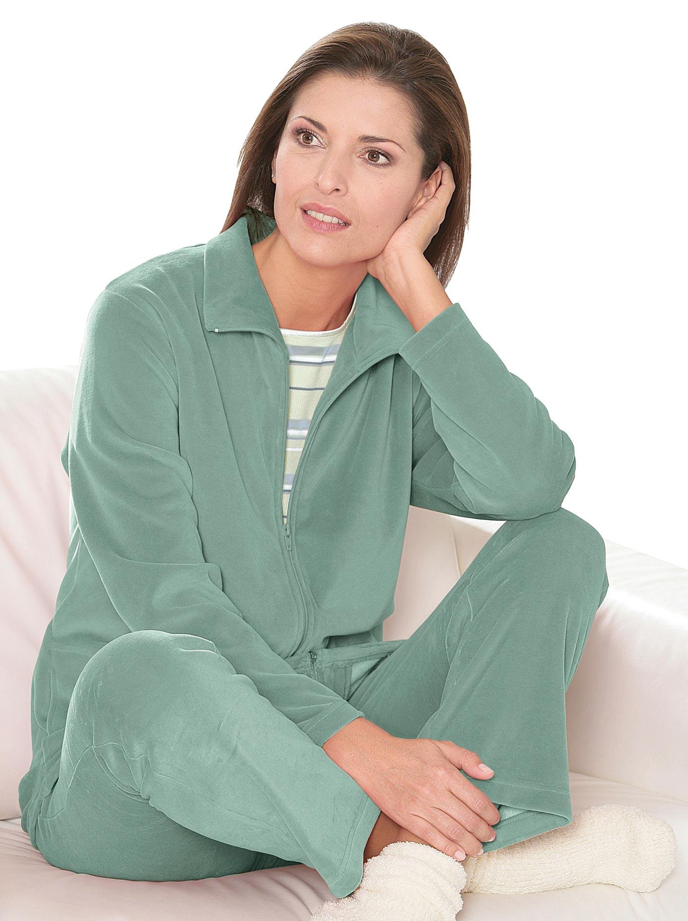 Hausanzug | Bekleidung > Homewear > Hausanzüge | Grün | Baumwolle