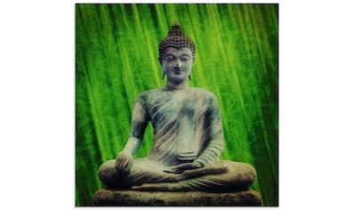 Artland Glasbild »Buddha Statue«, Religion, (1 St.) kaufen