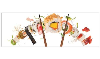 Reinders! Glasbild »Glasbild Sushi Gesund - Fisch - Reis - Japanisch«, Essen, (1 St.) kaufen