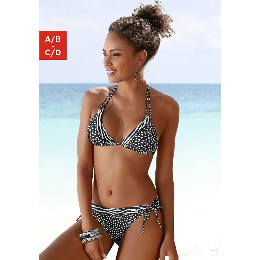LASCANA Triangel-Bikini-Top »Safari«, im Mustermix