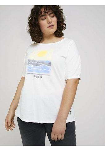 TOM TAILOR MY TRUE ME T-Shirt »T-Shirt mit Bio-Baumwolle« kaufen