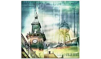 Artland Glasbild »Dortmund Skyline Collage I«, Architektonische Elemente, (1 St.) kaufen