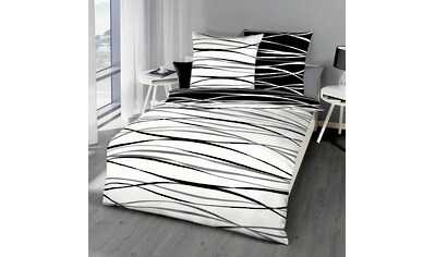 BETTWARENSHOP Wendebettwäsche »Bibermotion black&white«, warme weiche Qualität kaufen