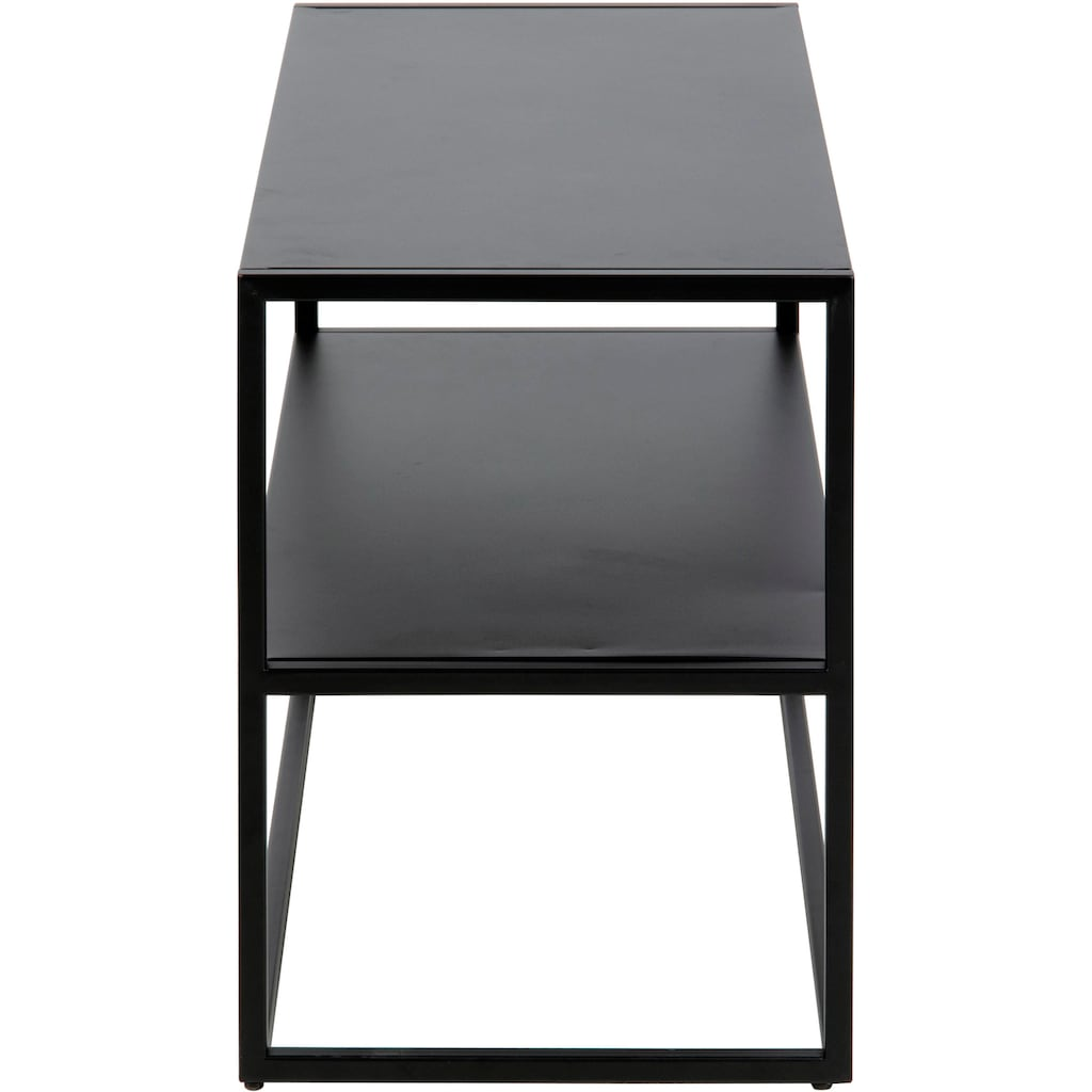 andas Schuhregal »Vilho«, aus schönem schwarzen pulverbeschichtetem Metallgestell, in gradliniger Optik, Höhe 45,5 cm