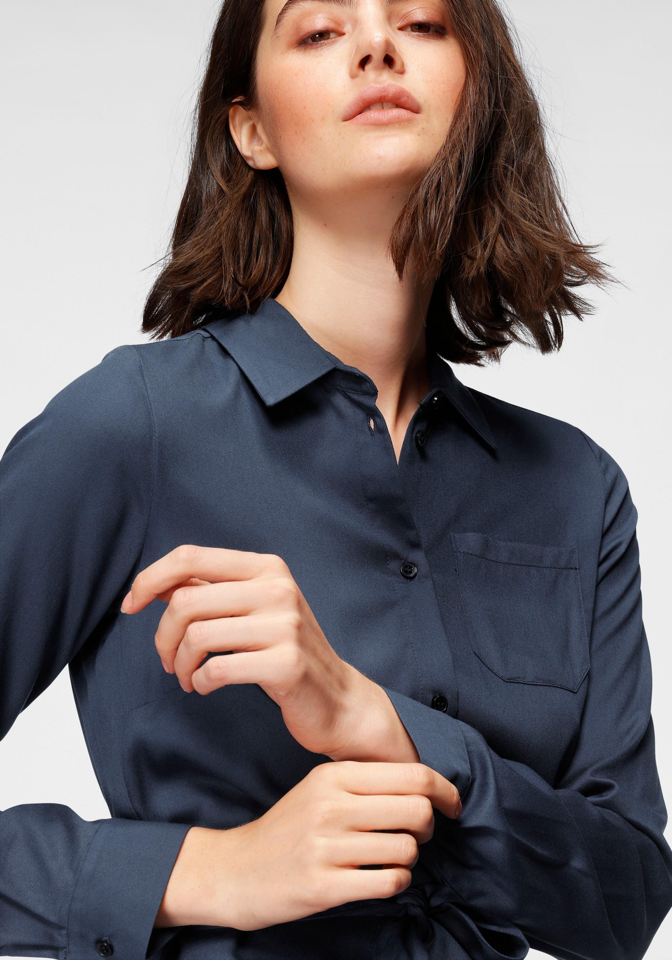 otto products blusenkleid, (2 tlg., mit abnehmbarem gürtel-mit  bindegürtel-mit stoffgürtel), nachhaltig aus weicher lenzing™ ecovero™  viskose