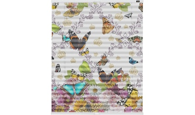 Plissee, »Klemmfix Motiv Butterfly World«, POMPÖÖS by Lichtblick, blickdicht, ohne Bohren kaufen