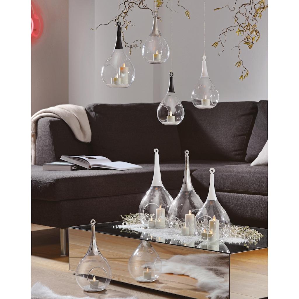 SOMPEX Windlicht »TAURA«, aus Glas, mundgeblasen, schwarz