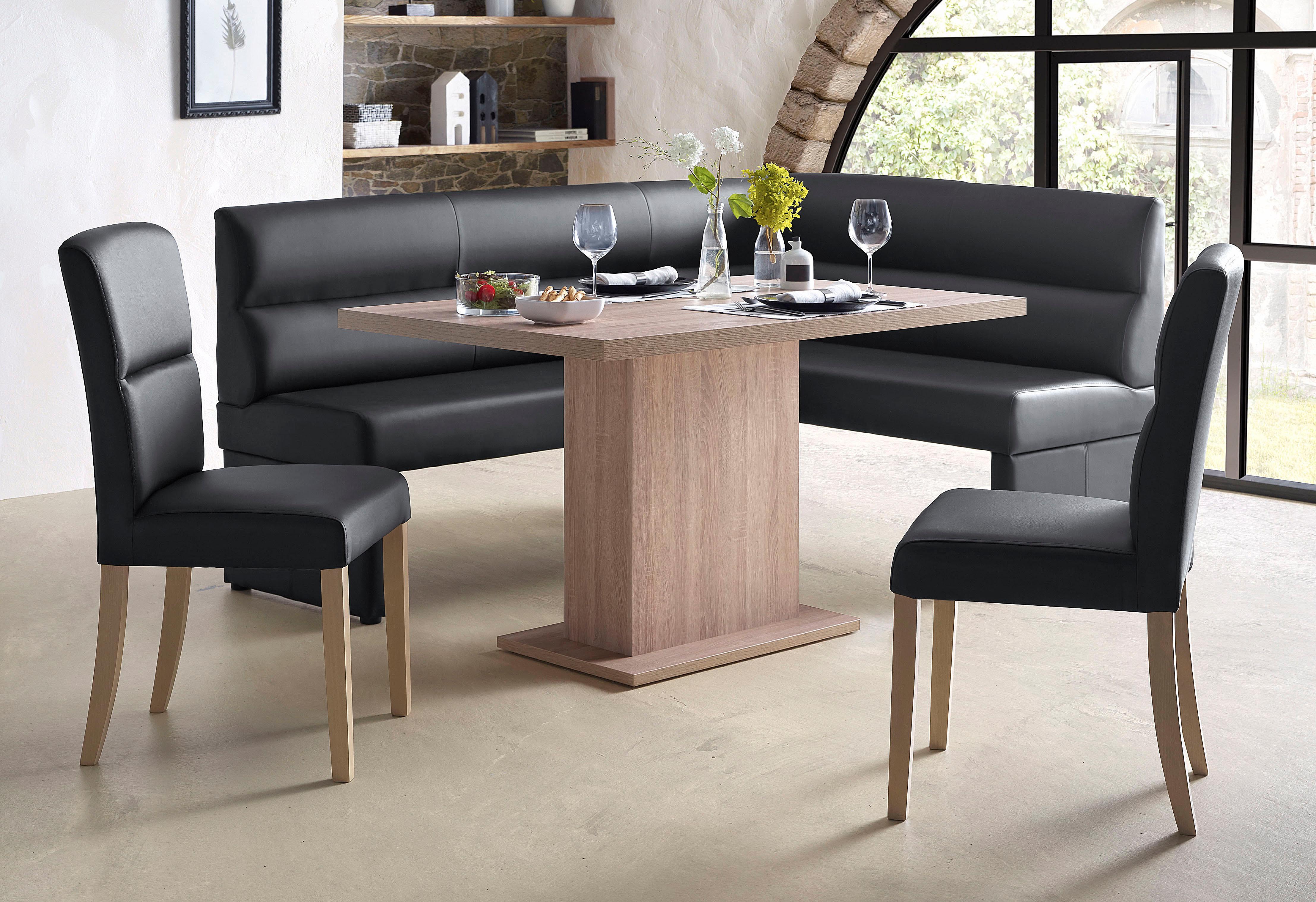 Eckbankgruppe | Küche und Esszimmer > Essgruppen > Eckbankgruppen | Braun | Massivholz - Kunstleder - Buche - Holzwerkstoff - Sonoma - Abs