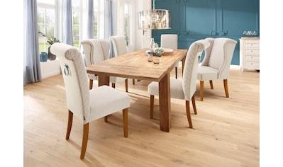 Home affaire Esszimmerstuhl »Erno«, mit gepolsteter Sitzfläche, Steppung in der Rückenlehne, silberne Nieten kaufen