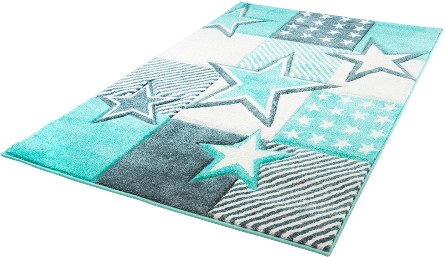 Kinderteppich, »Bueno Kids 1451«, Carpet City, rechteckig, Höhe 13 mm, maschinell zusammengesetzt