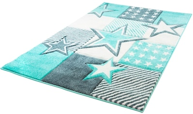 Carpet City Kinderteppich »Bueno Kids 1451«, rechteckig, 13 mm Höhe, Sterne, handgearbeiteter Konturenschnitt kaufen
