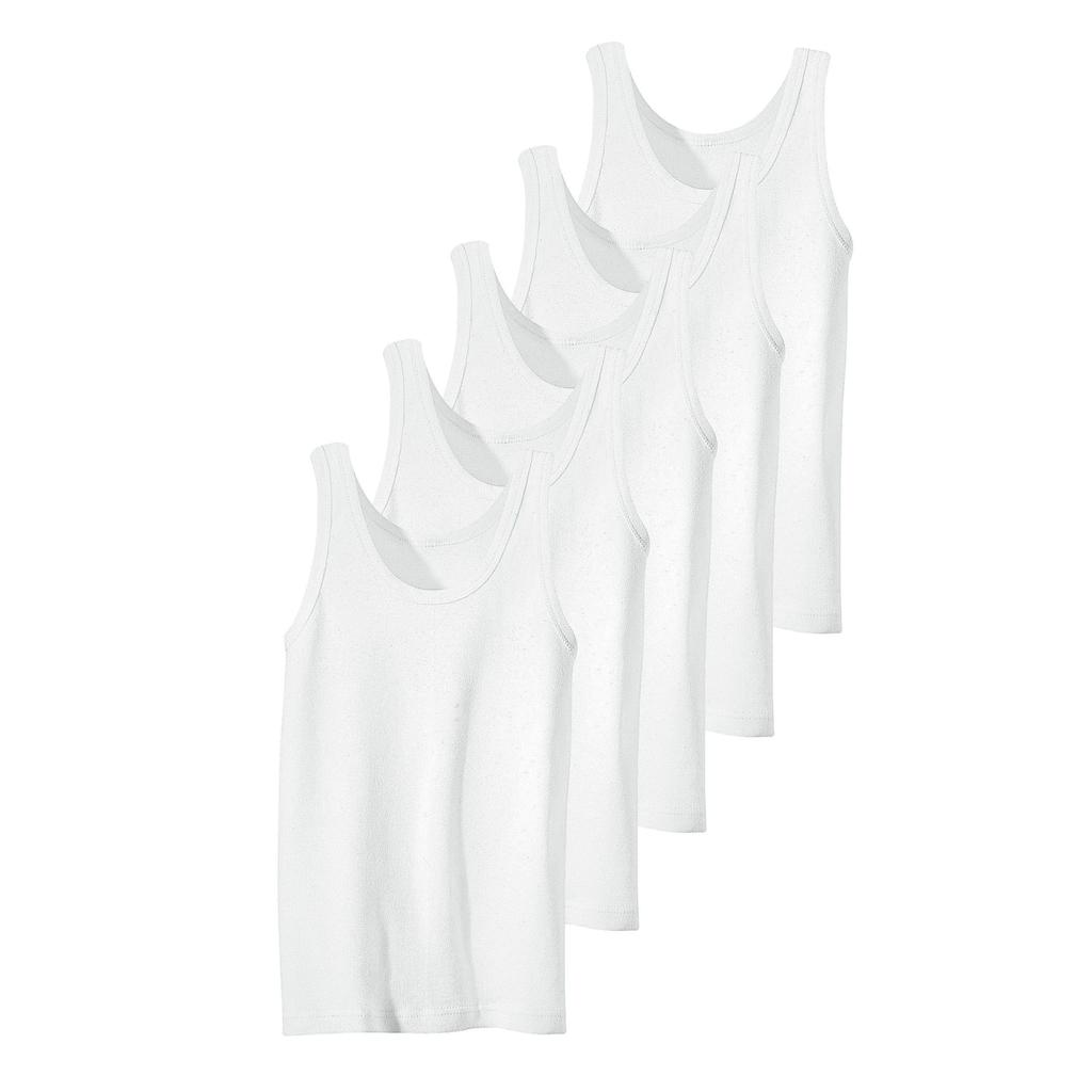 Unterhemd, Feinripp-Qualität, reine Baumwolle